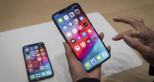 The iPhone Xs Max weighs in with a 6.5-inch display, and it has become the one to beat.  Photograph: David Paul Morris/Bloomberg