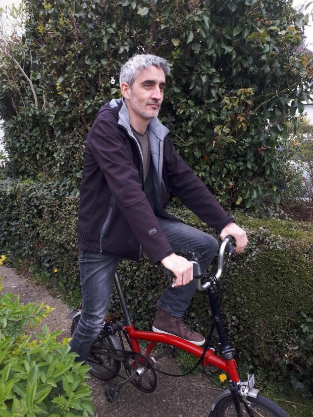 Ken Reid (on a different bike to the one stolen): 'The gardaí were excellent. I really appreciate them taking a bike theft seriously'