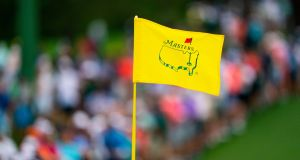 The Masters flag during the final round of the Masters in Augusta. Photograph: Doug Mills/The New York Times