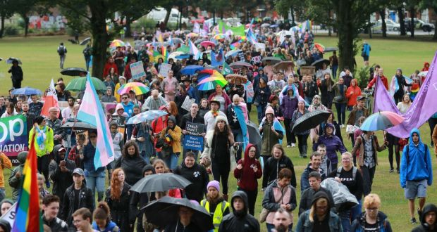 Dublin's first ever Trans Pride Parade, which took place last July, from  City Quays  to Fairview Park.  Photograph: Nick Bradshaw
