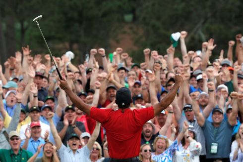 Tiger Woods, the 2019 Masters champion after one of sports' greatest comebacks. Photograph: Reuters