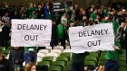 An FAI council member said on Saturday that John Delaney had told him he was about to resign from his current position as the association's executive vice president.  File image: Reuters/Clodagh Kilcoyne