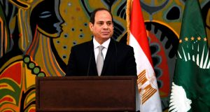 Egypt's president Abdel Fattah al-Sisi, who swept to power in a coup in 2013. Photograph: Seyllou/AFP/Getty Images