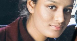 Shamima Begum, who left the UK at the age of 15 to marry an Islamic State fighter in Syria. Photograph:  PA/