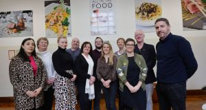 Students on the Masters in Gastronomy course at TU Dublin Cathal Brugha Street (from left): Maria Nehme O'Neill, Michele Moran, Sarah O'Leary, Paul Smith, Andrea Connor, William Toft, Lisa Cope and June Ruigrok, with lecturers Anke Klitzing and Diarmuid Murphy and course director Máirtín Mac Con Iomaire. Photograph: Alan Betson