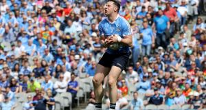 Philly McMahon in action at Croke Park last summer. This season he will be bidding to win a seventh senior All-Ireland medal with Dublin. Photograph: Bryan Keane/Inpho