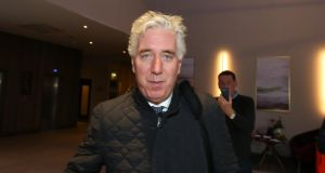 John Delaney leaves the Carlton hotel near Dublin Airport on Monday after a meeting with the board of the FAI. Phototgraph: Colin Keegan/Collins