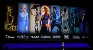 Disney showcases upcoming content, including Frozen 2, The Lion King and Toy Story 4, at an event to promote streaming platform Disney+. Photograph: Valerie Macon / AFP