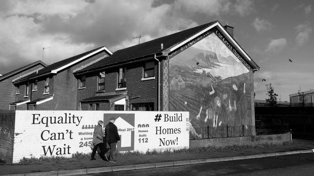 The New Lodge area of north Belfast. Photograph: Arthur Allison/Pacemaker