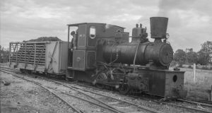 Bord na Móna steam engine, No 2, shunts a single wagon full of turf at Clonsast, Co Offaly on September 26th, 1950. Photograph: Robin N Clements/ Irish Railway Record Society Archive