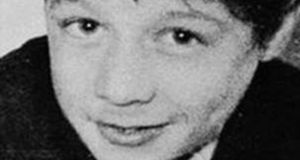 Operation Motorman: Daniel Hegarty (15) was shot twice in the head by a soldier near his home in Creggan. Photograph: The Derry Journal