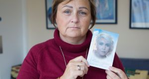 Michelle Walsh, Coolbaun, Fethard, Co Tipperary holds a photograph of her late daughter, Hollie Gilson. Photograph:  Liam Burke/Press 22