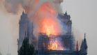 Eyewitness footage captures moment the Notre Dame spire collapses in huge fire