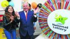 Television presenter Marty Whelan in 2017. The biggest unclaimed win on the record was for a €4.3 million jackpot, dating back to June 2001. The ticket was sold in Coolock in Dublin. Photograph: Dave Meehan