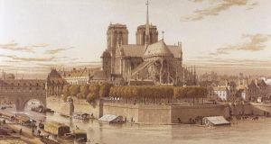 A representation of Notre Dame cathedral in Paris in 1750. It underwent major restorations in the mid-19th century. Photograph:  Prisma/UIG/Getty Images
