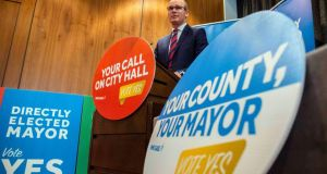 "Tánaiste Simon Coveney: ""If you are the directly elected lord mayor of Cork city, for example, you will arguably be the most influential and powerful politician in the country outside of Cabinet."" Photograph: Clare Keogh"