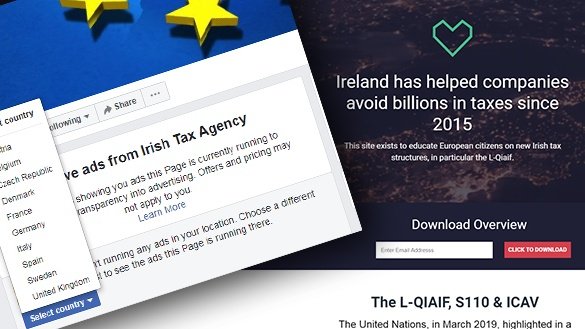 The Irish Tax Agency website did not initially provide information about the underlying organization, but was later modified to say that it was & # 39; by Paddy Cosgrave for educational purposes & # 39; was made.
