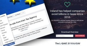 The Irish Tax Agency website initially gave no information about the organisation behind it but was later amended to say it was 'created by Paddy Cosgrave for educational purposes'.