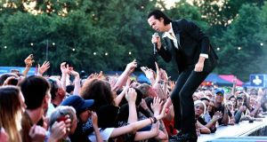 Nick Cave: 'Art must be wrestled from the hands of the pious.' Photograph: Gus Stewart/Redferns/Getty