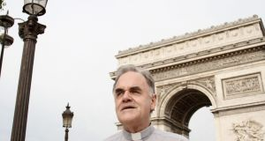 Father Aidan Troy, parish priest at St Joseph's in Paris, who visits Notre Dame cathedral each week. Photograph: Emmanuel Fradin/The Irish Times
