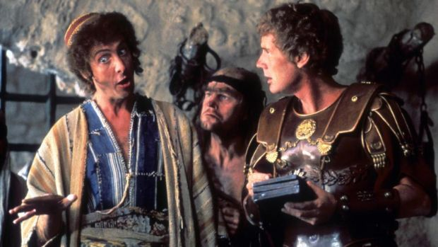 Fortieth-anniversary rerelease: Eric Idle, Terry Gilliam and Michal Palin in Monty Python's Life of Brian