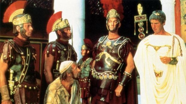 Fortieth-anniversary rerelease: Graham Chapman, John Cleese and Michael Palin in Monty Python's Life of Brian