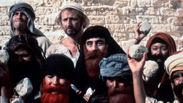 Fortieth-anniversary rerelease: Graham Chapman and Terry Jones in Monty Python's Life of Brian