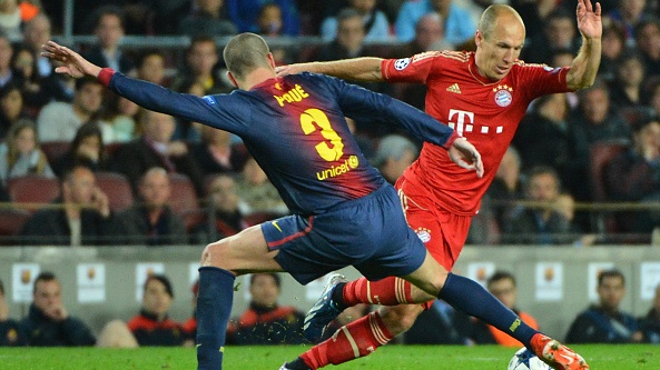 Barcelona's last home defeat in the Champions League was to Bayern Munich in May 2013. Photograph: Getty Images
