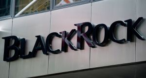 BlackRock cemented its position as the world's biggest fund manager as assets at the New York-listed group hit  €5.75 trillion. Photograph: EPA