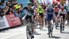 Sam Bennett winning the opening stage of the Presidential Tour of Turkey in Tekirdag. Photograph: Getty Images