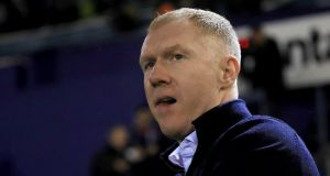 Former England and Manchester United midfielder Paul Scholes has been charged with misconduct in relation to the English Football Association's betting rules, the governing body has announced. Photograph:  Simon Cooper/PA Wire