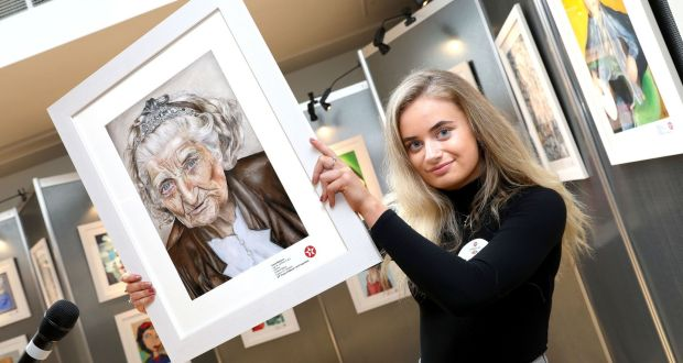 Naoise Hennessy, a 16-year old student from Craanford, near Gorey, has been chosen overall winner of this year's 65th Texaco Children's Art Competition, taking first prize in the senior 16-18 years age category. Photograph: Mac Innes Photography