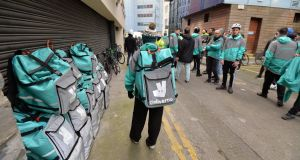 Deliveroo said its workers don't fall under the scope of this new directive as genuinely self-employed workers are not covered. Photograph:  Alan Betson