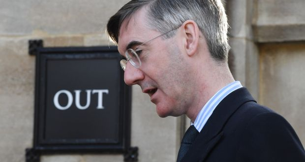 "European Research Group chairman Jacob Rees-Mogg was involved in ""frank exchanges"" on the Border issue with the US delegation, led by Speaker of the US House of Representatives Nancy Pelosi. Photograph: Facundo Arrizabalaga/EPA"