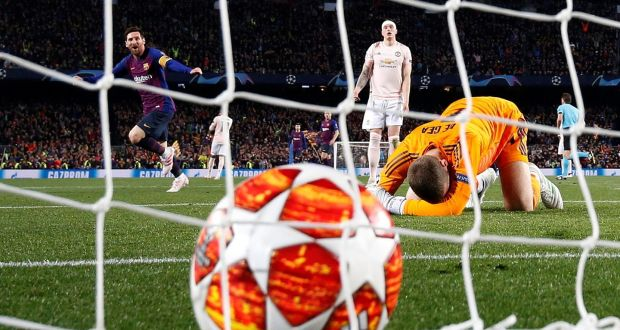 Messi magic and De Gea mishap allow Barcelona to stroll past