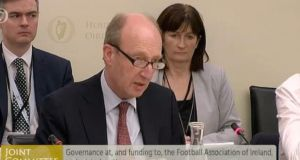 Minister for Sport Shane Ross at the committee hearing