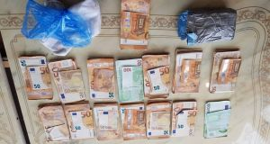 Some €31,500 in cash was seized during the raids. Photograph: Garda Press Office