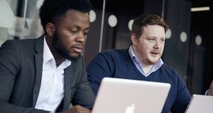 Touchtech co-founders Shekinah Adewumi and Niall Hogan: their   software company provides advanced strong customer authentication technology for financial institutions