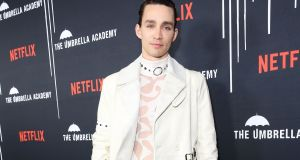 Irish actor Robert Sheehan attends the LA premiere of Netflix show The Umbrella Academy in February. Photograph: Rache Murray/Getty Images.