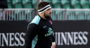 Ulster tighthead prop Marty Moore has been ruled out for the rest of the season. Photograph: Craig Watson/Inpho