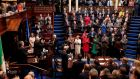 Nancy Pelosi receives a standing ovation in the Dáil on Wednesday. Handout photograph: Maxwell Photography/PA Wire