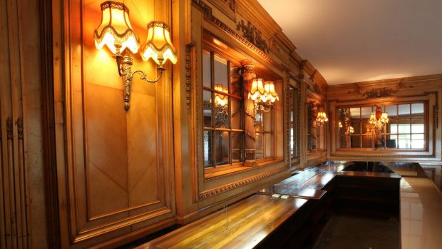 Maple panelling from the HMHS Britannic's second-class library