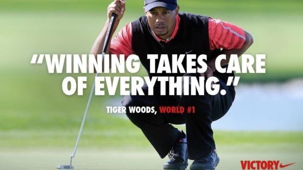 Nike ad during Woods's personal problems in 2009-2010.
