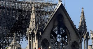 As for the general pandemic of I-word abuse, its effect on us allergy sufferers is grievous, even in the context of a story like the one from Paris, where the adjective would ordinarily have been useful. Above, a damaged section of Notre-Dame Cathedral after Monday's fire. Photograph: Gonzalo Fuentes/Reuters