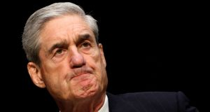 Special counsel Robert Mueller: it appears that he  gathered substantial evidence of potential obstruction of justice by the president. Photograph: Kevin Lamarque/Reuters