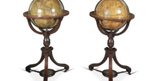 Set of celestial and terrestial Globes sold through Adam's for €30,000  (€25,000-€35,000)