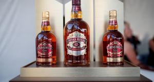 Bottles of Chivas Regal blended Scotch whisky produced by Pernod Ricard