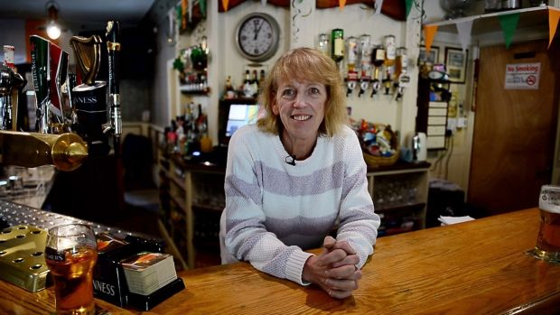 Pauline Fay, owner of Fay's Bar in Drumconrath, Co Meath. Photograph: Bryan O'Brien
