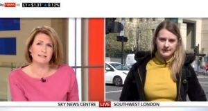 Sky News presenter Jayne Secker and young Londoner Kirsty Archer. 'Offence had indeed been caused during the interview, but not by Archer.'