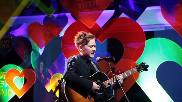 Soak playing at Derry Other Voices. Photograph: Rich Gilligan